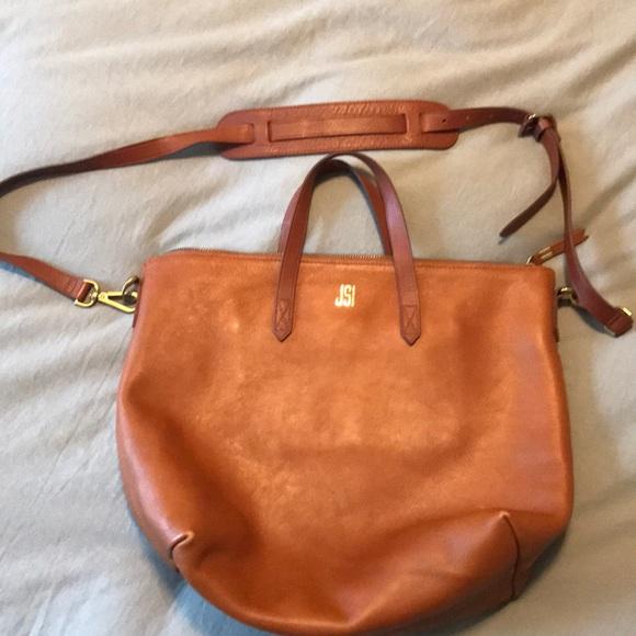 19b4f3cbd Madewell Handbags - Madewell ZipTop Transport Carry All English Saddle